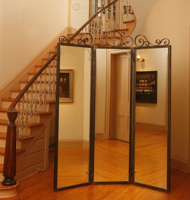 Handmade Forged Iron Three Panel Vanity Mirror Dornbach Studios