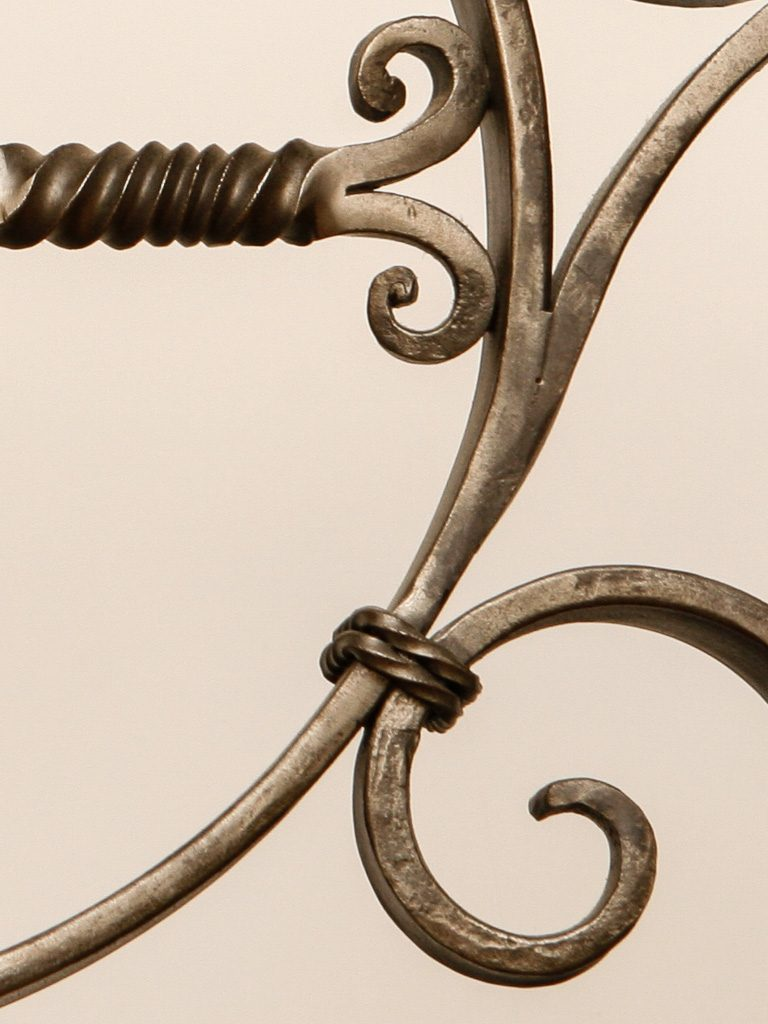 Up-close blacksmith forged detail